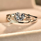 Heart Love Mom 925 Silver Plated White Sapphire Ring Mother's Day Jewelry Gift