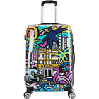 """inUSA Luggage Prints 24"""" Lightweight Hardside Checked Large Rolling Luggage NEW"""
