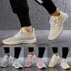 Mens Lace Up Walking Trainers Sneakers Breathable Fitness Mesh Shoes Sports Size