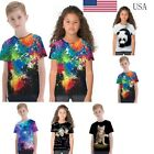 Children 3D Print T Shirt Boy Girl Summer Tee Clothes Casual Top Blouse Pullover