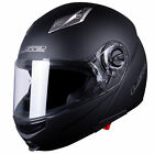 LS2 FF370 Easy Flip Up Front Full Face Motorcycle Crash Helmet with Sun Visor