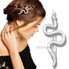 Egyptian Queen Cleopatra Fancy Dress Snake French Updo Hair Head Clip Snap Pin