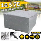Waterproof Outdoor Furniture Cover Silver Rattan Table Cover Patio Garden  Cover