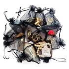 50Pcs Sheer Organza Gift Bags Wedding Favor Candy Bag Drawstring Jewelry Pouches