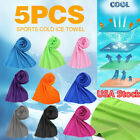 5X Instant Mesh Cooling Towel Ice Cold Golf Cycling Gym Sport Outdoor Towel USA image