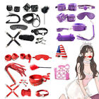 10/7PCS Sex-Toys Handcuffs Eye Mask Whip Colar Bondage Set For Women Men Couple