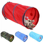 AM_ Cat Kitten Tunnel Toy Tube Hideout Playing Folding Nest Tent Ball Pet Suppli