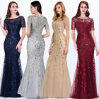 Kyпить US Ever-Pretty Plus Size Mesh Sleeve Long Evening Gowns Bridesmaid Party Dresses на еВаy.соm