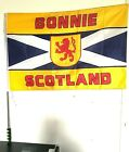 SALTIRE BONNIE SCOTLAND SCOTLAND the BRAVE Flags  120cm FLAG POLE ONLY 750