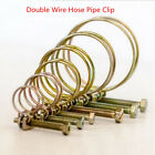 Double Wire Hose Clamp Pipe Clip Screw Bolt Tight Fitting Classic Zinc