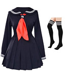 Classic Japanese School Girls Sailor Dress Shirts Uniform Anime Cosplay Costumes