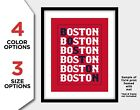 BOSTON RED SOX Photo Poster Fan Picture Baseball Letter Art Print 8x10 or 11x14 on Ebay