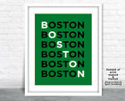 BOSTON CELTICS Photo Poster Fan Picture Basketball Letter Art Print 8x10  11x14 on eBay