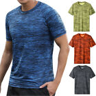 Men Summer Casual Short Sleeve T Shirt Fit Sport Fast-Dry Breathable Top Blouse image