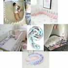 Cotton Soft Baby Bed Bumper Plush Knot Crib Protector Newborn Baby Home Decor