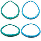 Turquoise 4x4mm-4x15mm Graduated Rondelle Loose Heishi Beads 17