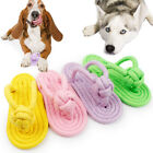 Pet Braided Rope Slipper Toys Dog Puppy Chew Toy Molar Teeth Cleaning Slippers