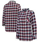 Concepts Sport Boston Red Sox Women's Navy/Red Plus Size Piedmont Flannel on Ebay
