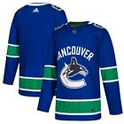 VANCOUVER CANUCKS NHL ADIDAS BLUE HOME AUTHENTIC ALL SEWN ADULT BLANK JERSEY NWT $59.95 USD on eBay