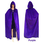 Christmas Hooded Velvet Cloak Robe Medieval Witchcraft Cape Costume Unisex US