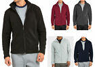 Men's Polar Fleece Jacket Plain Full Zip-Up Warm Layering Coat