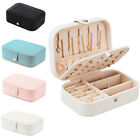Portable Jewelry Box Organizer Travel Leather Jewellery Ornaments Case Storage