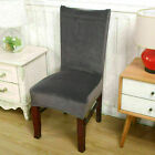 4x Stretch Dining Chair Covers Velvet Slipcover Wedding Banquet Home Seat Cover