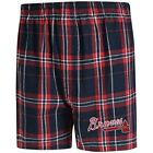 Concepts Sport Atlanta Braves Navy/Red Hillstone Flannel Boxers on Ebay