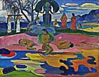 Mahana no atua (Day of the God) by Paul Gauguin. Life Repro on Canvas or Paper