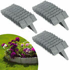 20 40 Garden Edging Cobbled Stone Effect Lawn Plant Border Hammer In Yard Beauty