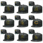 NEW  Snapback Adjustable One Size Fitted Cap Baseball Cap Hat Flat -Bill Brim on Ebay