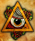 All Seeing Owl by Lee Jegou Eye of Providence Rolled Canvas or Paper Art Print