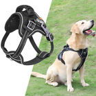Large Dog Harness Walk No Pull Vest Tactical Heavy Duty K9 Handle 2D-Ring Collar