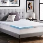 """LUCID 2.5"""" Gel Infused Memory Foam Mattress Topper with Removable Cover - DNIP image"""