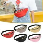 Fashion Pure Color Women Shoulder Waist Fanny Belt Packs Leather Chest Bag Purse