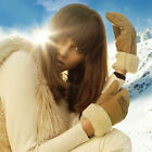 UGG Gloves Twin Faced Shearling Cuff Logo Mittens NEW