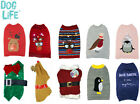 *NEW* CHRISTMAS FESTIVE DOG PUPPY CHRISTMAS JUMPER JACKET COSTUME XMAS CLOTHES