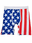 Mens Red White & Blue American Flag Stars & Stripes Patriotic Boxer Briefs