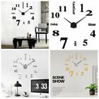Modern 3D DIY Wall Clock Large Luxury Mirror Surface Sticker Design Home Decor