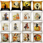 Fall Halloween Pumpkin Pillow Case Waist Throw Cushion Cover Sofa Home Party image