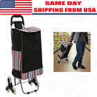 Folable Shopping Cart Stair Climb Rolling Trolley Bag Grocery Climber Laundry~