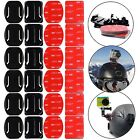 Flat Curved Adhesive for Gopro Hero7 3 4 5 6 H9R 24PCSMount Helmet Accessories