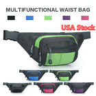 Unisex Outdoor Sports Running Jogging Waist Bag Waterproof Zipper Fanny Pack US image