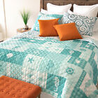 Your Lifestyle Seahorse Grid Microfiber Quilted Bedding Set image