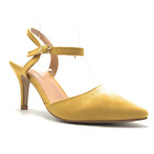 Forever Canty-01 Low Heel Pointed Toe Pump Adjustable Ankle Buckle Strap Sexy St