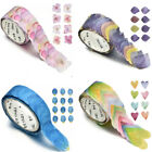 200PCS/Roll Floral Washi Tape Sticker Petals Adhesive Decals Scrapbooking DIY