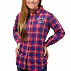 Forever Collectibles NFL Women's New York Giants Check Flannel Shirt $34.99 USD on eBay