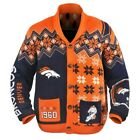 KLEW NFL Men's Denver Broncos Holiday Ugly Cardigan Sweater $49.99 USD on eBay