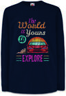 The World Is Yours To Explore Kinder Langarm T-Shirt Gamer Gaming Pixel 8 16 Bit