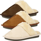 Memory Foam Mule Slippers Cushioned Slip On House Shoes  Womens
